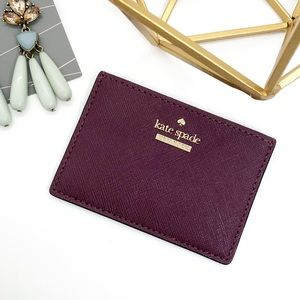 Kate Spade NY Cameron Street Card Holder Deep Plum